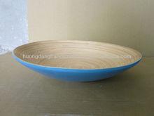 Plato de decoración de bambú - artículos de regalo, ensalada y pasta - respetuoso del medio ambiente 100%