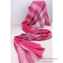Fashion Big Plaid Cashmere Silk Scarf