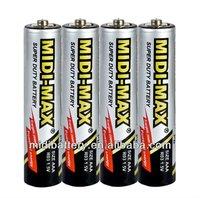 zinc carbon battery ro3 aaa batteries