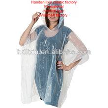advertising PE disposable poncho,pvc rain poncho, pe raincoat