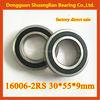 16006-2RS bearing 30*55*9mm 16005 16006 16007 16100 16101 deep groove ball bearing