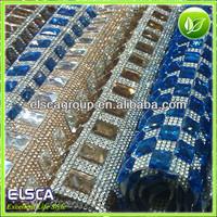 crystal rhinestone sew on strip mesh 5*15 size glass