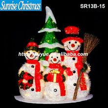 [2013 NEW] Christmas led light decoration/ Santa Claus led lights/ Christmas snowman group (MOQ:200PC)