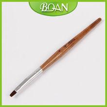 Popular Design Gel Brush Wood Gel Nail Brush Nylon Hair Pen for Nail