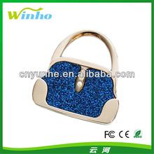 Blue Glitter Hand Bag Foldable Purse Hanger