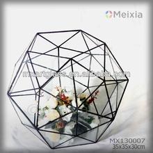 MX130007 wholesale tiffany style glass flower vase for wedding decoration