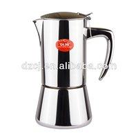 YAMI stainless steel moka coffee pot 6 cup