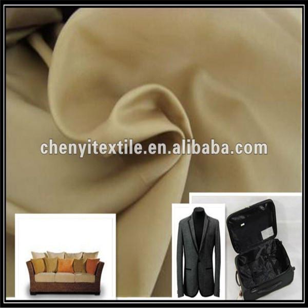 Factory price polyester taffeta lining fabric for sofa