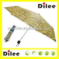 beautiful elegant sun tiger printing 3mini umbrella