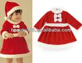 Little Miss santa' s aiutante natale del bambino abiti ragazze vacanza costume abito xmas da regalo rosso 3 dimensioni