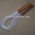 Bamboo knitting ferramenta crochet gancho, Tamanho 3.0 mm - 10 mm, Natural e cor carbonizada