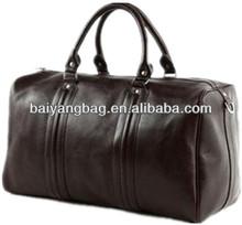 Unisex leather travel/duffle bag