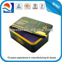 Cheap/hot sale coffee/tea rectangular metal tin can