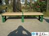 Long wooden park bench chair/wood plastic composite park bench