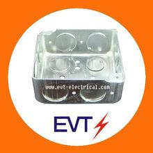 Square electrical conduit knockout box
