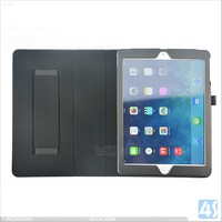 Slim Folding Leather Stand Case with Han Holder for Apple iPad 5 Air P-IPD5CASE042