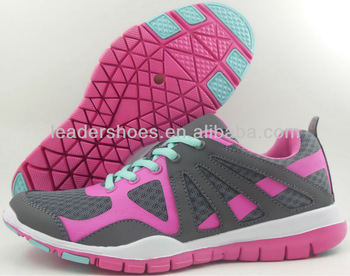 2013 ladies sports shoes/ girls beautiful top quality sports shoe