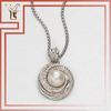 Pearl & Diamond Pendant Necklace