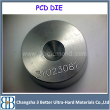 Manage PCD wire drawing dies with heart