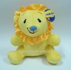 lovely sitting lion toy & animal dog tube plush lion toys for sales& stuffed toy