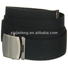 men canvas belts with metat buckle