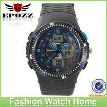 1308 Analog&Digital Display PU Band Black Military army Watch