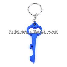 Aluminum key bottle opener with keychain