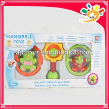 Cartoon Design 3Pieces A Set Handbell Toys, Lovely Cartoon Plastic Handbell Toys