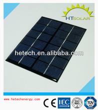 Portable 6v 2w mini solar panel