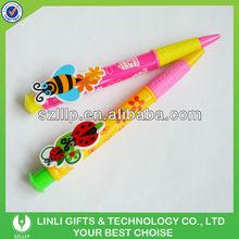 Rubber Grip Plastic Custom Big Clip Pen