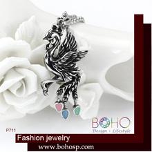 BOHO P711 phoenix necklace, phoenix pendant necklace, bird necklace