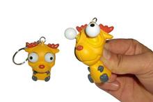 2014 New Product 3D Custom Novelty Promotional Plastic Keychain