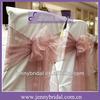 SH001G New hot sale dust rose organza wedding chair sashes