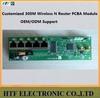 mini design ODM wifi 150/300M 1Wan+4p LAN 802.11b/g/n two External antenna MINI 2.4G wifi extender Wireless cellular Router