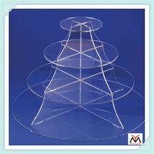 clear 4 tiers acrylic cake stand,acrylic display stand,acrylic cake display