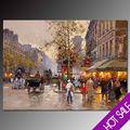 París calle pintura al óleo escena, hotel de alta calidad de la decoración de la pared pintura al óleo abstracta de arte al óleo sobre lienzo, el museo de la mano de grado