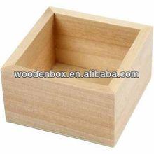 Wooden open top box