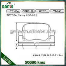 Brake pads car Toyota Camry D707
