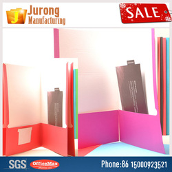 Jurong Manufacturing Decorative A4 Hard Cover File Folder, Assorted Colors