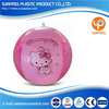 New Style plastic inflatable toy ball with pink hello kitty design