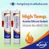 High temp. Acetic one component adhesives
