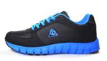 PU upper black running shoes men