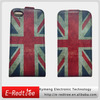 Western UK flag pu leather cell phone case cover for iphone 5 manufacturer