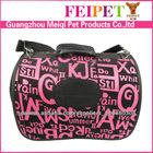 Art letters jacquard cloth pet dog carrier