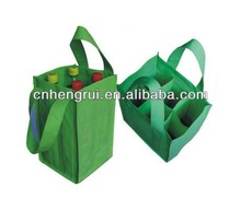 6 bottle non woven wine tote for promotion