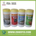Cuero toallitas húmedas para auto/camiones/rv,( pack de 25)