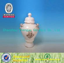 antique arts Chinese handmade white ceramic vase