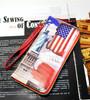 Fani pu retro wallet custom witn plastic zipper