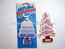 Custom tree shaped advertising hanging paper car air fresheners