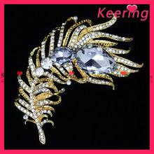 Wholesale big crystal diamante brooch for men WBR-891